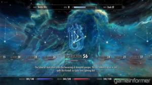 Skyrim skills menu