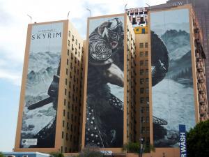 Skyrim - рекламный плакат