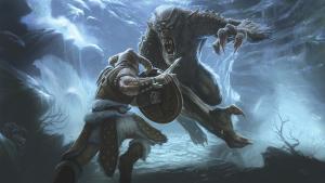 Skyrim art - frost troll