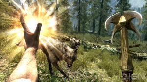 Skyrim - битва с воками