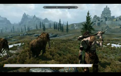 Skyrim gameplay screenshot on E3