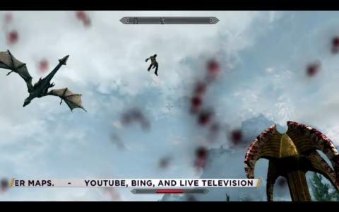 Skyrim gameplay screenshot on E3