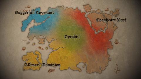 Elder Scrolls Online - карта фракций