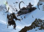 Skyrim Art - Bear encounter