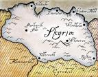 Карта Skyrim контурная