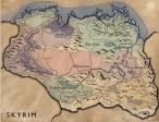 Карта Skyrim с областями