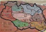 Карта Скайрима с подписями
